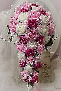 Brides Teardrop in Mixed Pinks