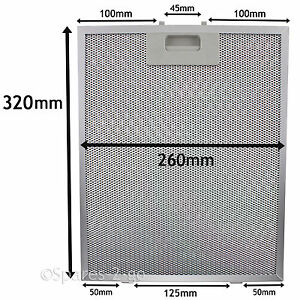 Metal Grease filter For AEG BAUMATIC Cooker Hood Extractor Vent Fan 320 x 260mm