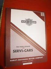1951-1961 HARLEY DAVIDSON SERVI-CAR ORIGINAL FACTORY PARTS CATALOG 99454-61 RARE