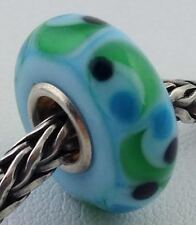 Authentic Trollbeads Ooak Universal Unique 161 Murano Glass Bead Charm Fits All