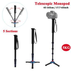 VBESTLIFE 5KG Camera Telescopic Monopod Tripod 5 Sections for Photographic Black