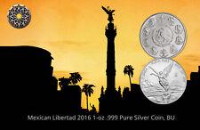 2016 Mexican Libertad 1 oz 99.9 Fine Silver Coin, BU (Free Shipping)