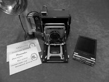 GRAFLEX 4X5 CROWN GRAPHIC - OPTAR 135MM - FLASH HOLDERS - MANUALS - EX. COND. !
