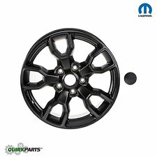 "2007-2017 JEEP WRANGLER 18"" WHEEL RIM & CENTER CAP (SINGLE) JET BLACK OEM MOPAR"