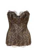 Agent Provocateur Women's Shina Corset Size S Black/Gold RRP £ 903 BCF83
