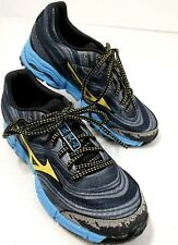 Mizuno Women Wave Kazan Running Shoes Size 6 Gray Yellow Blue XtaticRide New