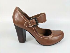 Bertie Tan Leather High Heel Shoes Uk 6 EU 39 with box
