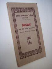 Istituto Educazione S.Anna Palermo RELAZIONE SUL XX° ANNO SCOLASTICO 1913-14