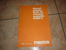 MAZDA MPV BOITE DE VITESSES MANUELLE R15M-D manuel d'atelier 04 - 1996 français