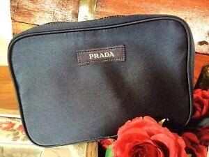 Prada Kulturbeutel Logo Necessaire Kosmetiktasche Neu Kosmetik Tasche BAG Pouch