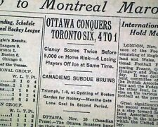BOSTON GARDEN Opens for the 1st Time in a Bruins Hockey Game 1928 Old Newspaper