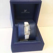 Swarovski Crystals White Watch Leather Strap Genuine In Box