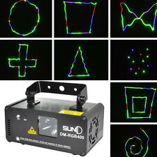 DMX 512 400mW RGB Bühnenbeleuchtung Beam LED DJ Party Disco Laser Lichteffekt