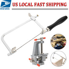 Jewelers Saw Frame &12 Blades & Mini Bench Vise with Clamp Jewelry Making Tool