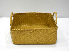 Basket Indonesian Yellow Square Rattan Basket
