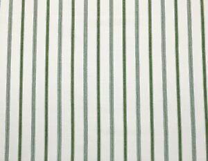 """BALLARD DESIGNS CONLEY STRIPE FERN GREEN WHITE MULTIUSE FABRIC BY THE YARD 56""""W"""