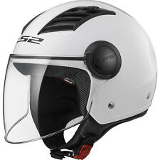 LS2 OF562 Airflow L Solid White Open Face Motorbike Helmet Jet Crash Motorcycle