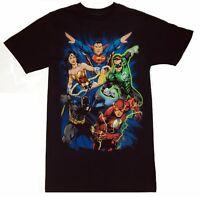JUSTICE LEAGUE Batman, Superman, Wonder Woman, Flash, Green Lantern T-Shirt NWT