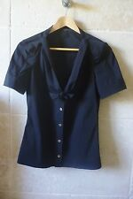 top blouse chemisier chemise GUCCI noir taille 36 fr ou 40 italien