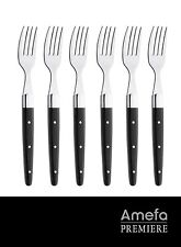 Amefa 540828 Laguiole steak fork royal steak Noir, Set of 6