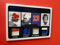 PETE ROSE Wilt Chamberlain OJ SIMPSON PHIL ESPOSITO JERSEY CARD #d23/25 LEAF ITG