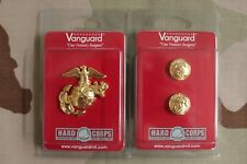 Usmc Marine Corps Gold Chin Strap Button & Badge Set 4 Enlisted Combination Cap