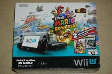 Black Nintendo Wii U System Console Complete in Box #222 Near Mint