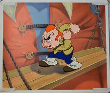 Max Fleischer Gabby On Scaffolding From Gulliver'S Travels Animation Cel W/Coa