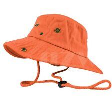 Mens Outdoor Boonie Bucket Hat Fishing Camping Military 100% Cotton Safari Cap