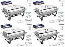 Set Of 4, Single Compartment 9.5L Chafing/Buffet/Party Dishes or Food Warmer