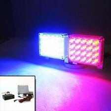 Allarme Lampeggiante Luce di emergenza rosso e blu 40 LED CAMION CRUSCOTTO