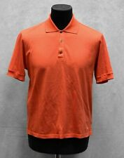 B5 YVES SAINT LAURENT Orange Logo Button Embroidery Short Sleeve T-Shirt Size L