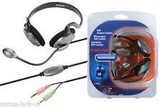 Bandridge Ultra Comfort Voip Cuffia con microfono MIC Auricolare, 1.8m Piombo
