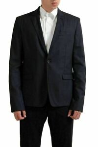C'N'C National Collection 100% Wool Gray One Button Men's Blazer US 44 IT 54