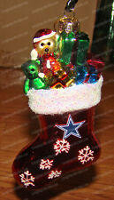 Dallas Cowboys Team Stocking Glass Ornament (Forever Collectibles) NFL Football