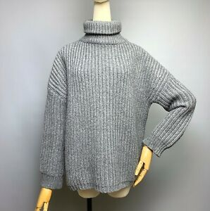 ZADIG VOLTAIRE North Court Turtle Neck Sweater Size S Oversized Knitted Pullover