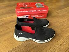 SKECHERS GO WALK 4 TRAINERS Black GOGA MAX Slip On Shoes UK 6 / 39 - VGC
