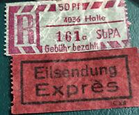 40 USED GERMANY. Gebühr bezahlt  REGISTERED STICKERS MAKE OFFER B2G1F 236