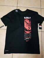 Nike Air Lebron (SAMPLE) STRIVE FOR GREATNESS Dri-fit T Shirt  SZ L BQ3628 010