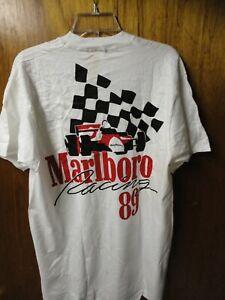 Vintage 1989 Marlboro Racing Team Tee Shirt Adult XL