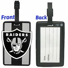 NFL Oakland Raiders Soft Luggage Bag Tags /Gym bag / Golf bag