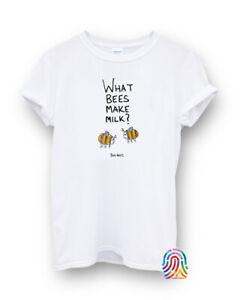 What Bees Makes Milk Boo Bees Funny Halloween T-shirt Vest Top Men Women Unisex