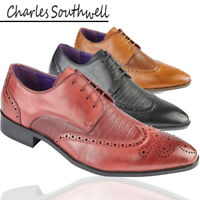 Mens Brogue Oxford Lace Up  Formal Leather Lined Shoes Sizes UK 6 7 8 9 10 11 12