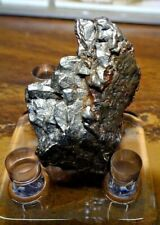 Large 24 Gm Campo Del Cielo Meteorite Crystal ! Great Piece W/ Stand