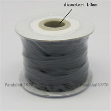1 Roll  Korean Black Wax Polyester Cord 1mm Crafts Jewelry Making 100yard/roll