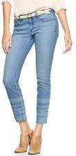 Gap 1969 Stripe Hem Always Skinny Skimmer Jeans - Lunda wash 32Tall(14)