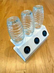SodaNature | 3er Edelstahl Abtropfhalter in Weiß für SodaStream - Timeless