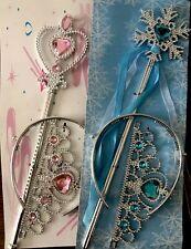 Wand And Tiara Set - Pink Or Blue - Alice Band Tiara - Princess Fairy Frozen