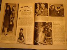 SOPHIA SOFIA LOREN clipping ritaglio articolo foto photo=ANNI '50=7