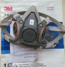Free Shipping 3M 6200 reusable Respirator Painting Spraying half Face/Gas Mask